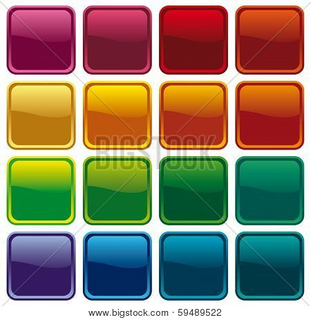 Colour shining buttons