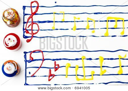 Painted Sheet Music