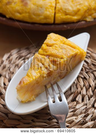 Portion Of Spanish Omelette