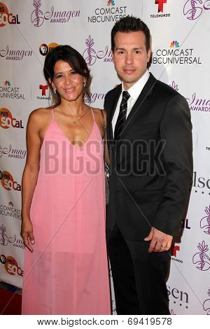 LOS ANGELES - AUG 1:  Jon Seda at the Imagen Awards at the Beverly Hilton Hotel on August 1, 2014 in Los Angeles, CA