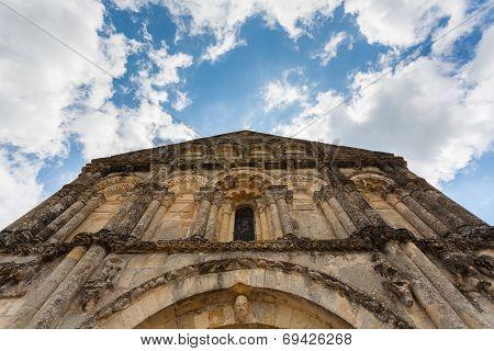 Upper Facade View Of Petit Palais Et Cornemps Romanesque Church Gironde France