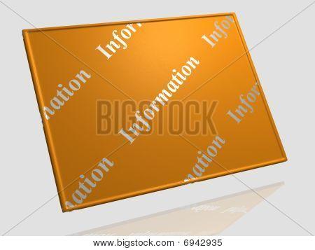 Information board - 3D