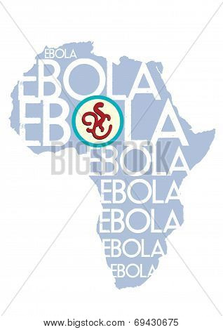 Illustration concept of Ebola Virus in Africa with vector and raster versions poster