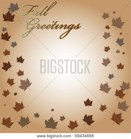 Fall Greetings Vector Backgroun