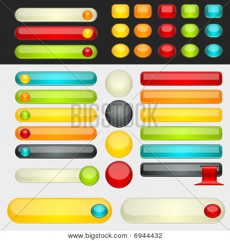 Shinny Colorful Web Buttons