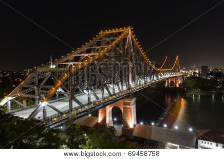 Story Bridge by Night. TILT SHIFT