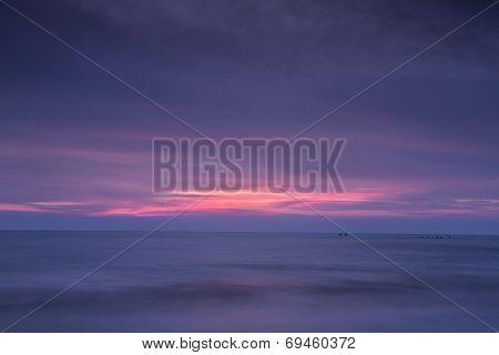 Beautiful Sunset Over Old Hunstanton Beach