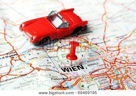 Wien ,austria Map Car