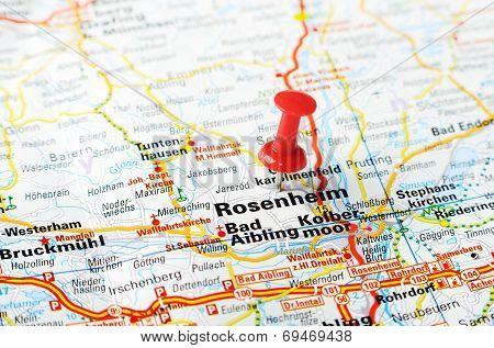 Rosenheim ,austria Map