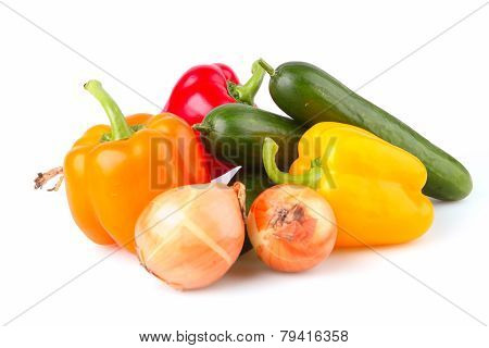 Sweet Peppers And Cucumber