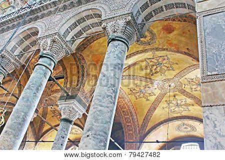 Interior Of The Saint Sophia In Istanbul, Turkey