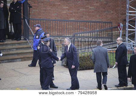 US Senator Charles Schumer arrives