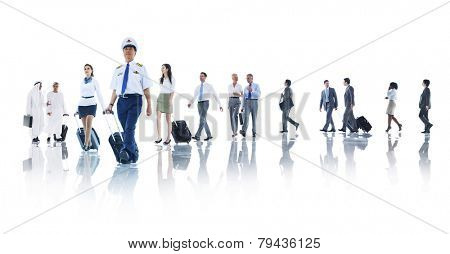 Travel Business People Cabin Crew Trip Flight Concept poster