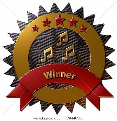 Music Winner Seal