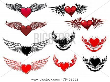 Heart Tattoos With Wings