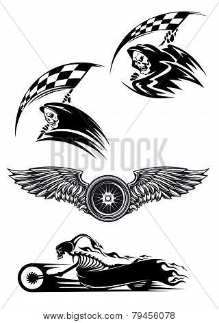 Black Motocross Mascot Design
