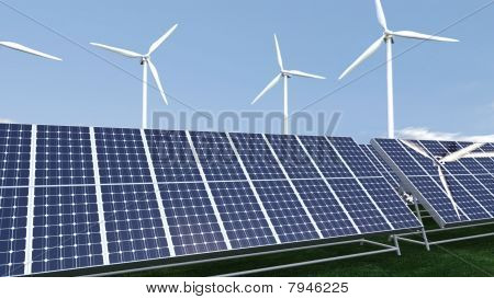Animation Presenting A Field Of Photovoltaic Panel