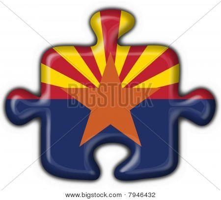 Arizona (usa State) Button Flag Puzzle Shape