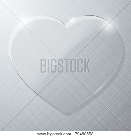 Vector illustration of a glass heart