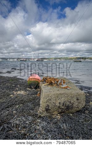 mylor harbour in cornwall england uk