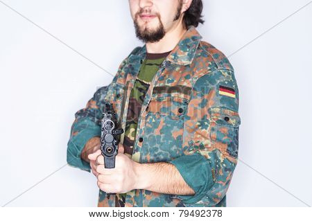 Weapon In The Hands Of A Guerrilla Fighter