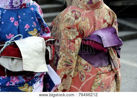 Geishas In Kimono