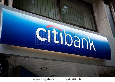 Citibank - Headquarter Signage In Spain