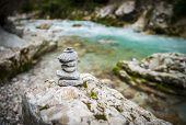 Tolmin gorge, Slovenia, central Europe, beautiful landscape poster