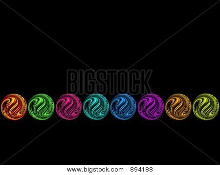 Colorful Milky Marbles Row