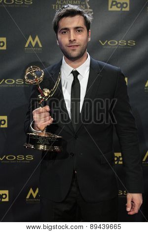 LOS ANGELES - APR 26:  Freddie Smith at the 2015 Daytime Emmy Awards at the Warner Brothers Studio Lot on April 26, 2015 in Burbank, CA