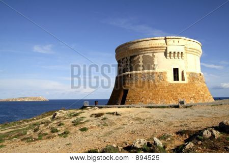 Fornells Tower With Sea