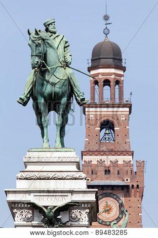 Garibaldi's Statue In Milan Before Castello Sforzesco
