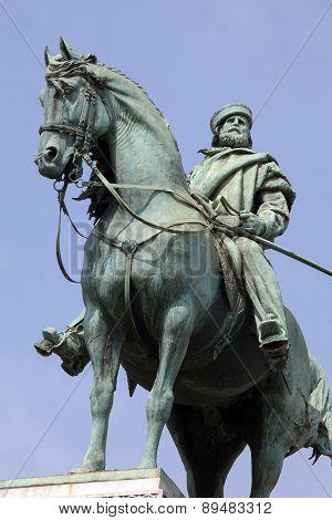 Garibaldi's Statue In Milan