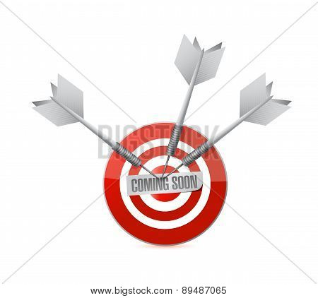 coming soon target sign concept illustration design over white poster