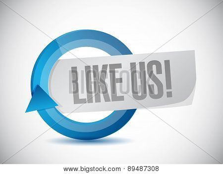 Like Us Cycle Sign Concept Illustration