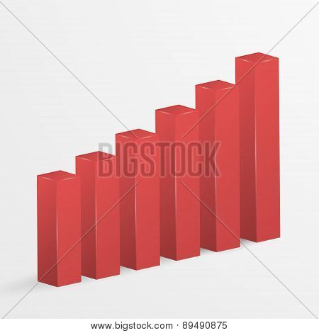 Financial Bar Graph Icon. Vector Illustration.