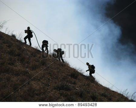 SAN BERNARDINO CALIFORNIA - NOVEMBER 05: San Bernardino County California Devore Brush Fire 2012