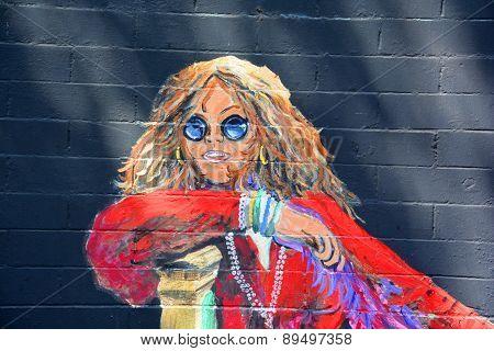 Janis Joplin mural