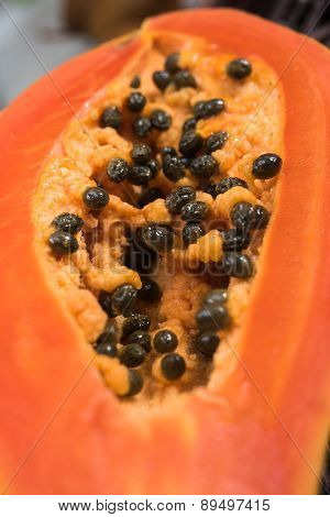 Slice of papaya