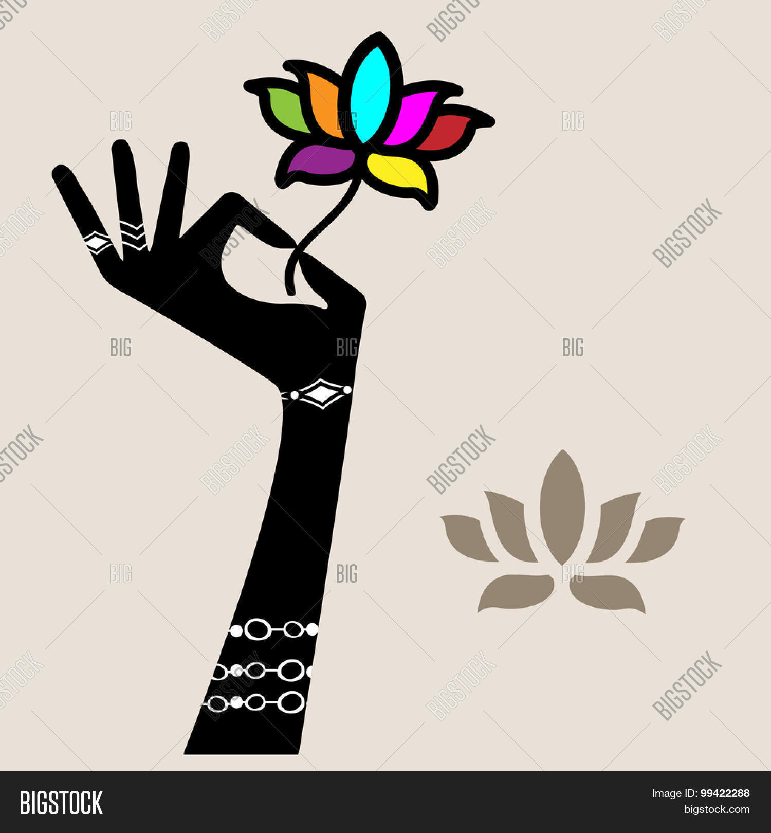 Hand Holding Lotus Vector Photo Free Trial Bigstock