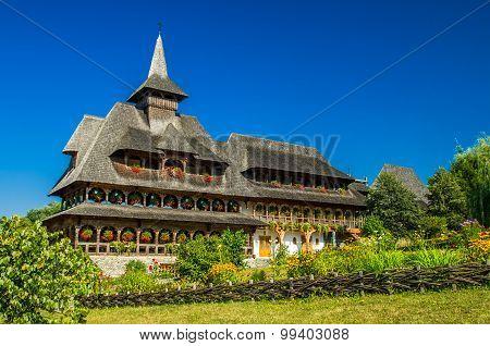 Barsana Wooden Monastery, Maramures, Romania.