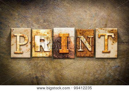 Print Concept Letterpress Leather Theme