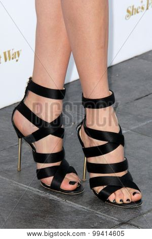 LOS ANGELES - AUG 19:  Peyton List (shoe detail) at the