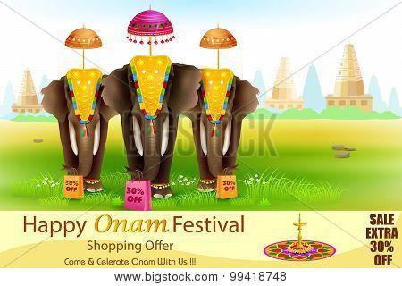 Decorated elephant for Happy Onam