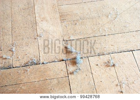 Dust on the floor