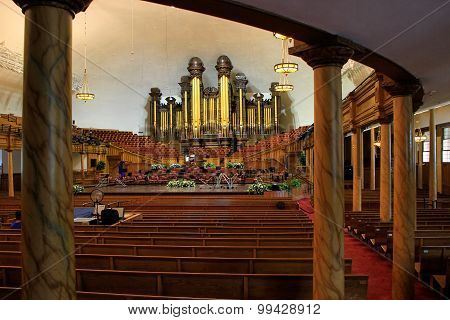 Tabernacle Organ In Salt Lake City, Utah