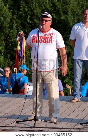 The coach Gennady Shipulin, volleyball club