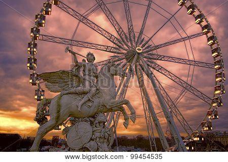 The Roue de Paris Ferris wheel, Paris, France