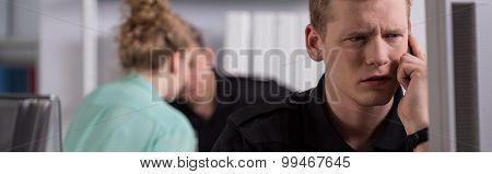 Interrogation In Police Office