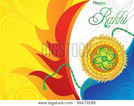 Abstract Artistic Raksha Bandhan Background